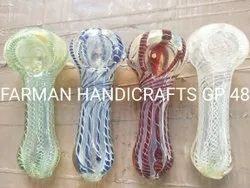 Triple Twisted Glass Smoking Pipes