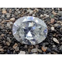 2.20 Ct Colorless Oval Cut Loose Moissanite For Jewelry