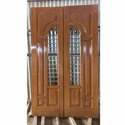 Polished Teak Wood Door, For Home