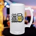 Printed Frosted Beer Mugs