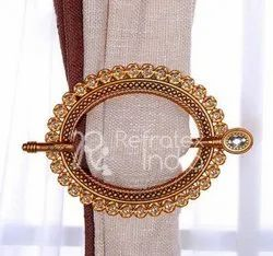 Stone Metal Curtain Tieback