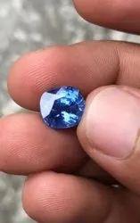 Cornflower Blue Sapphire Cushion Cut Natural Certified Stone, Size: 10.24 X 9.40 X 6.91 Mm