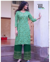 Rayon Regular Ethnic Wear Kurti With Bottom Collection