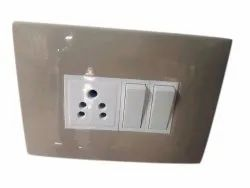 Plastic Electrical Switch Board, Two, One
