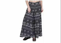Casual Wear Black Women Long Palazzo Pant, 120 Gsm, Waist Size: Free Size