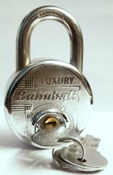 Luxury With Key Bahubali Round Padlock, Packaging Size: <10 Piece, Chrome
