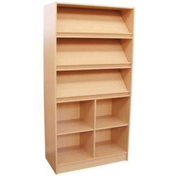 Rite Source Brown Wooden Library Magazine Racks, Capacity: 100 Kgs