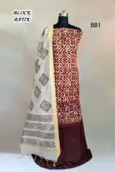 Unstitched 10 Color Exclusive Batik Print Suit Material, Dry Clean
