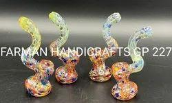 Spiked Art Glass Smoking Bubblers