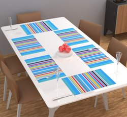 Stripe PVC Dining Table Mats, Size: 12x18 Inch
