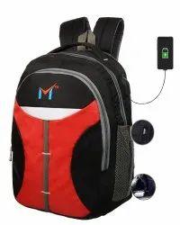 40 LTR Laptop Bag ,College Bag (Black) USB Port By SMS Bag House
