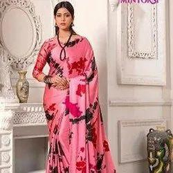 Satine Silk Printed Saree Catalog