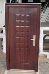 Brown Polished Mild Steel Door, For Home, Single