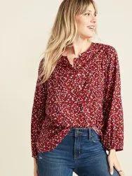 Cotton Full Sleeves Surplus Ladies Casual Tops