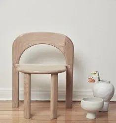 Soft Wood Polished Designer Wooden Chair