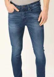 Regular Fit Casual Wear Men Plain Branded Denim Jeans