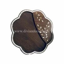 Wood And Mother Of Pearl Chocolate Tray And Box