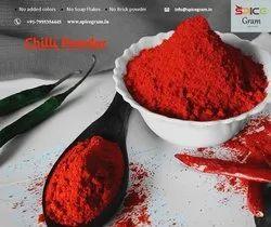 Premium Quality Red Chilli Powder, 500 g, Packets