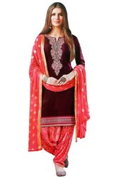 A-Line Stitched Ladies Simple Salwar Suits, Handwash