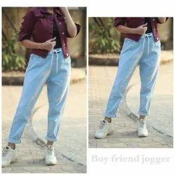 Regular High Rise Ladies Light Blue Denim Jeans, Waist Size: 28 to 32