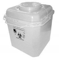 White Sharps Container
