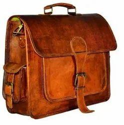 Unique Handicrafts Men Designer Leather Office Bag, Size: 39.62 X 15.88 X 27.94 Cm