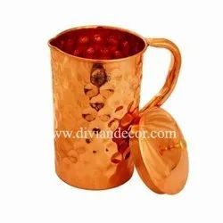 Alluring Hammered Pure Copper Jug