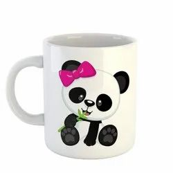 Multicolor Personalized Coffee Mugs Panda Lover for Gifitng, Size: 350ml
