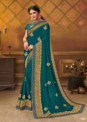 Designer Fancy Net Patta Saree