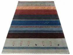 Multicolor Handloom Wool Carpets, Size: 5 X 8 Feet, Rectangle
