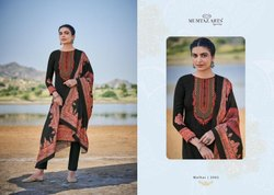 Mumtaz Arts Malhar Series 2001-2008 Pure Jam Satin Kashmiri Work Suit