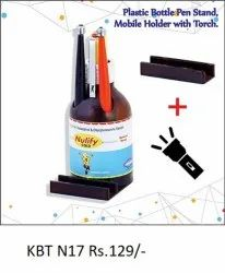 Plastic Bottle Penstand With Mobile Holder & Torch