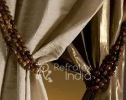 Wooden Bead Curtain Tieback