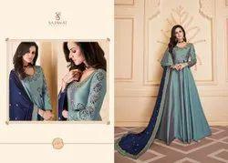 Silk Anarkali Salwar Suit