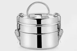 Stainless Steel Round AP-962 Kadi Tiffin, 2 SS containers, Packaging Type: Bundle