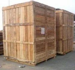 Pine wood Industrial Wooden Packaging Box, 5-15 mm, Box Capacity: >1000 Kg
