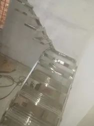 5 Feet Silver Fancy Stainless Steel Staircase