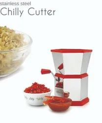 Stainless Steel Chilly Cutter Vegetables and Dry Fruit Cutter/Stainless Steel