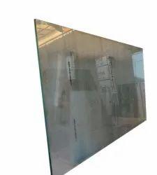 Black Rectangular 6 Mm Clear Float Glass, Size: 8 Feet