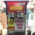 Golden Soda Fountain Machine