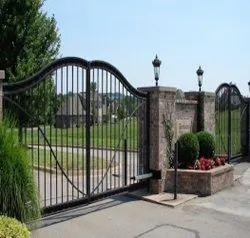 Black Mild Steel Automatic Swing Gates