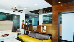 Living Room Interior Designing, Work Provided: Wood Work & Furniture