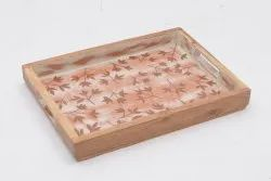 Wooden Printed Tray, For Restaurant, Size: Small