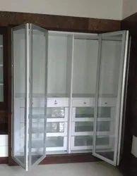 Exterior Wardrobe Foldable Glass Doors, 10mm