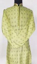 Mens Designer Brocade Kurta Pajama