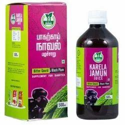 33 Herbals As Mentioned In Label Karela Jamun Juice, Packaging Type: Plastic Bottle, Packaging Size: 500 Ml