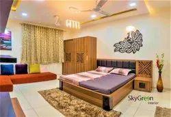 Residential Interior Designer Bedroom, Work Provided: False Ceiling/POP