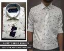 Aero Style Cotton Men White Printed Shirt