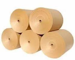 Wood Pulp Plain Brown Kraft Paper Roll, GSM: 80 - 120 GSM