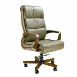 Beige Revolving Office Chair